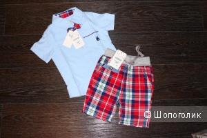 Набор рубашка и шорты для мальчика на рост 100см