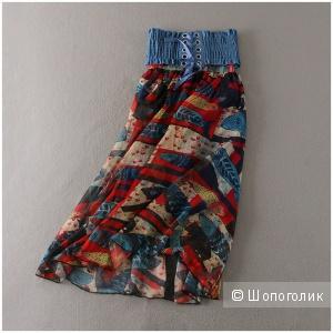 Летняя шифоновая юбка разме уневерсальный