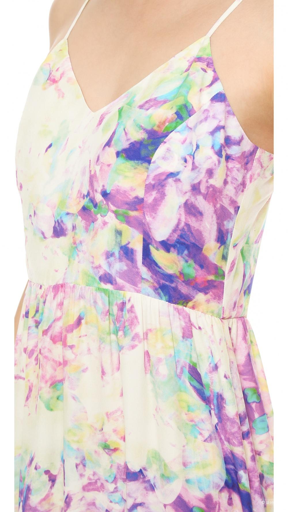 Шёлковое длинное платье Parker, размер M (ближе к S)