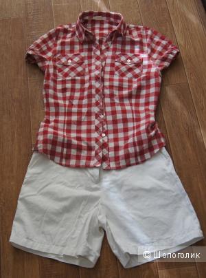 Блуза-рубашка в клетку, р-р 42-44