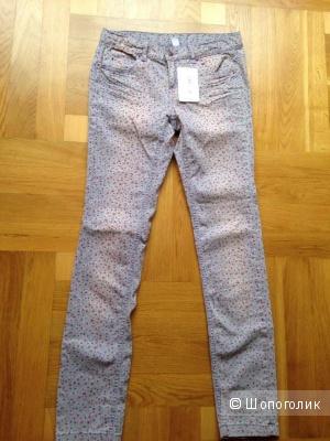 Летние джинсы с цветочным рисунком Zara Kids на 13-14 лет или 164 см.