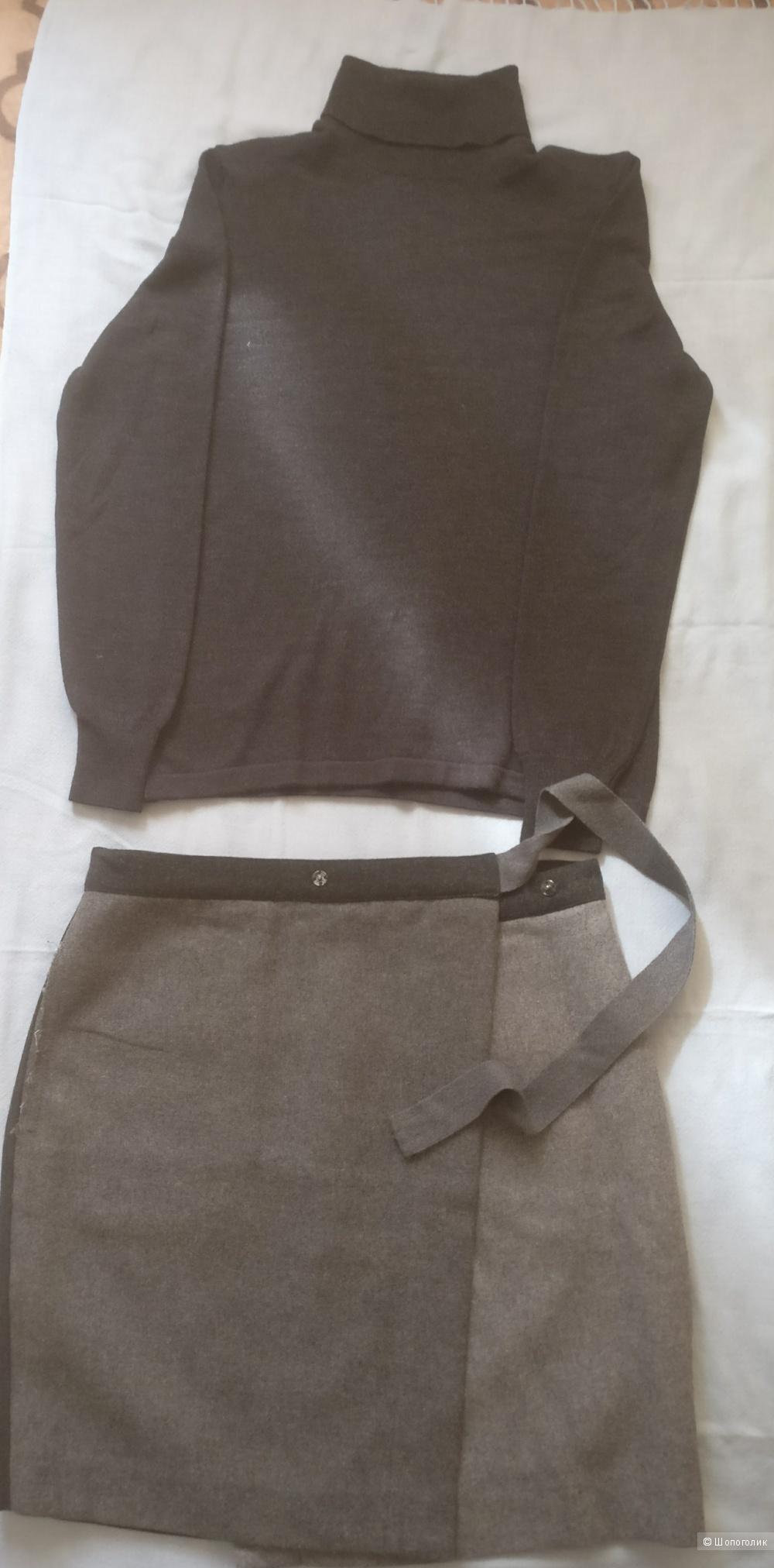 Комплект - Дизайнерская юбка Loft и водолазка Mazenetto, размер s