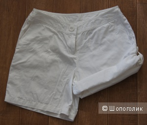 Белые хлопковые шорты Basic Line, р-р 42-44