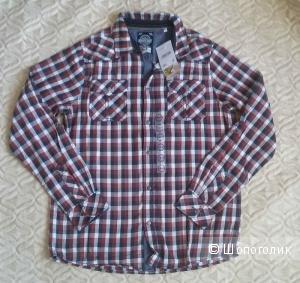 Клетчатая рубашка C&A S (ближе к M) 170-176