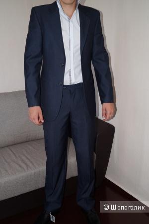 Мужской костюм Moder темно синего цвета, размер 48-50