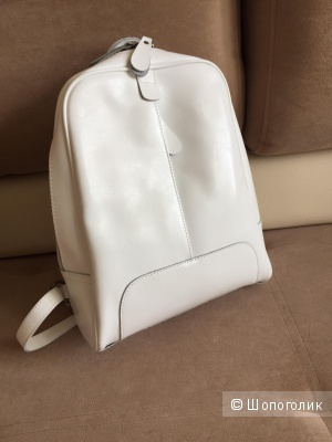 Рюкзак кожаный новый, белый.