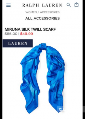 Новый оригинальный шарф ralph lauren