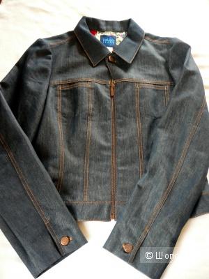 Джинсовая курточка Kenzo Jeans на замке и пуговице р44-46