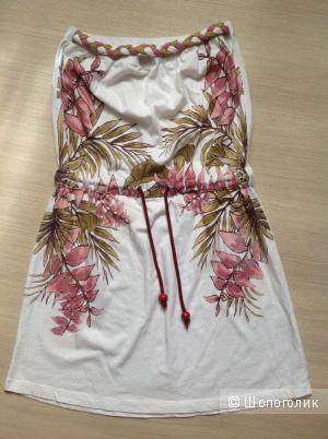 Пляжное платье без бретелей, разм. XS-S