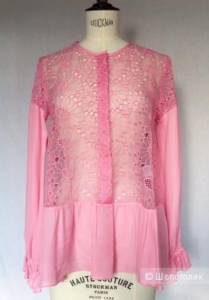 Блуза шелковая c вышивкой марки DONDUP.Новая!размер 42-44