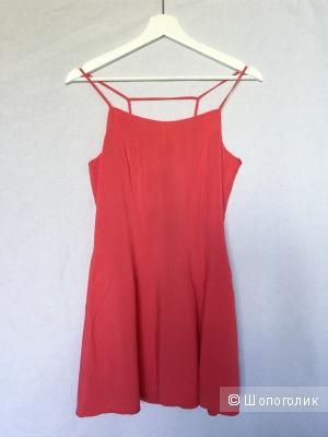 Платье -мини на лето H&M коралл размер 44 рос (38 европ)