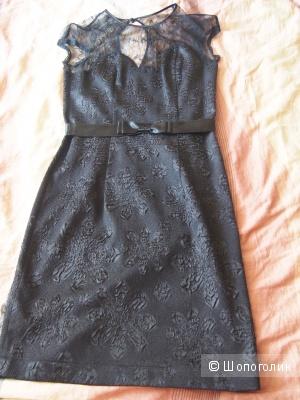 Черное жакардовое платье размер 42-44