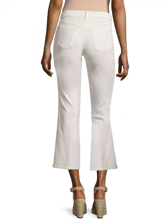 Укороченные светлые вельветовые джинсы J Brand Selena Mid Rise Jeans. Размер 29.