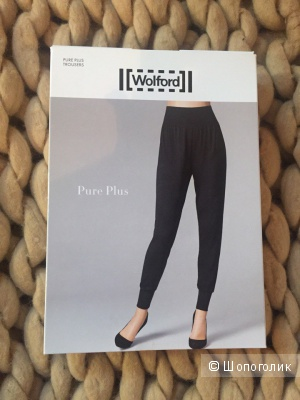 Черные штаны WOLFORD PURE PLUS TROUSERS р-р 42-44