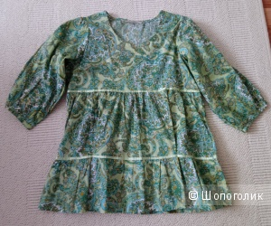 Хлопковая блузка, р-р 42-44-46