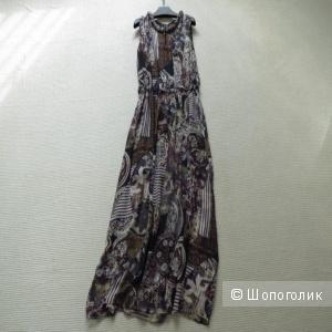 Шелковое платье с принтом XL