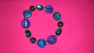 Браслет с  шариками цвета морской волны , Lady Collection