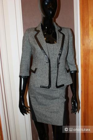 Костюм-двойка Love Republic размер 40-42 (пиджак+платье мини).Доставка за мой счет