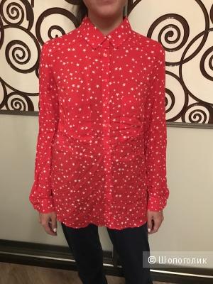 Рубашка красная со звёздами Pimkie, размер S