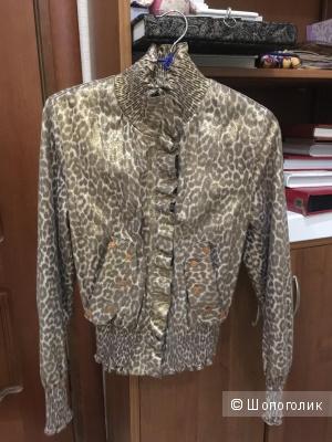 Кожаная куртка Franco Farnelli, размер 42-44
