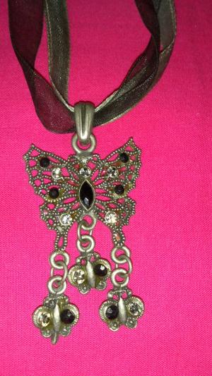 Колье бабочка на ленточках, Lady Collection