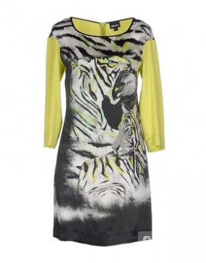 Платье JUST CAVALLI, 48 (Российский размер) - дизайнер: 46 (IT). Черное. Нат. шелк