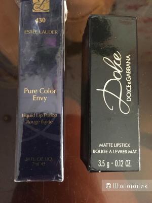 Dolce & Gabbana и Estee Lauder две помады комплектом