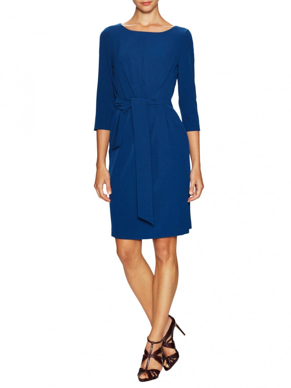 Платье фирмы Tahari ASL, синее, размер L (US10)