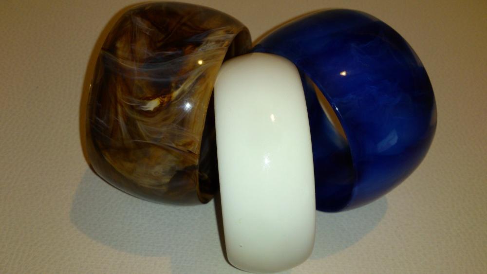 Сет из трёх широких браслетов, Lady Collection