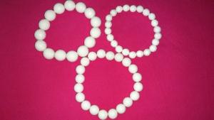 Сет из трёх белых браслетов, Lady Collection