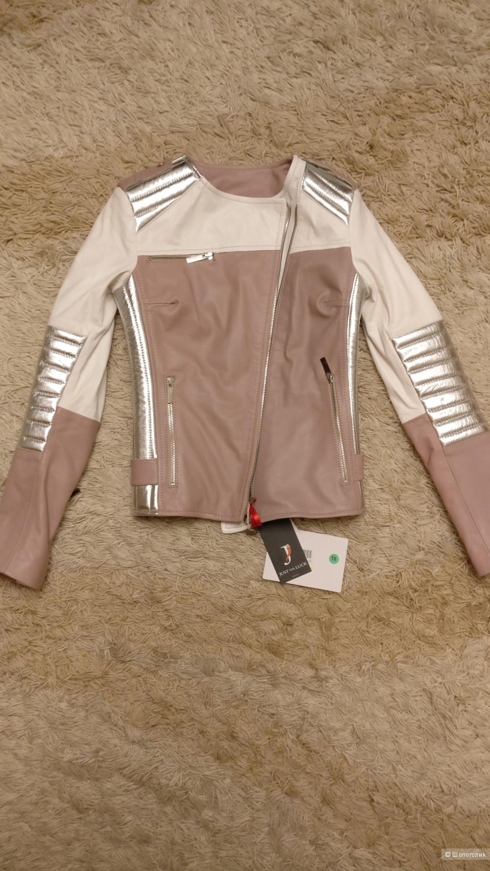 Кожаная курточка  JUST FOR LUCK, 40 размер