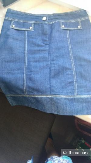 Elisabetta Franchi джинсовая юбка маркировка 30 на 48 размер