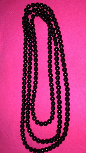 Бусы черные, Lady Collection
