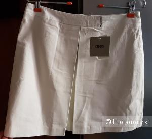 Кожаная юбка-трапеция со складками ASOS, 12 UK. 46 р.