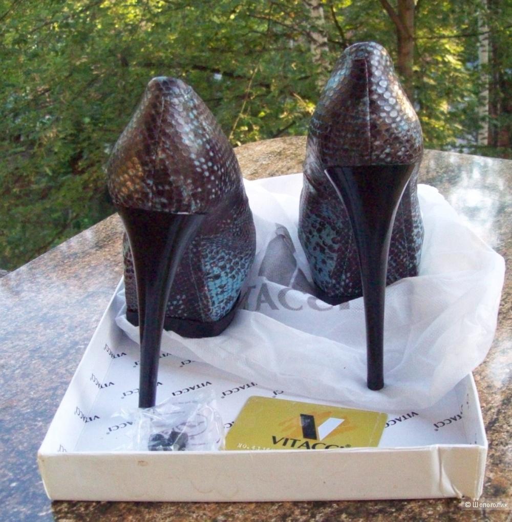 Туфли Vitacci, кожа под рептилию, 39 размер