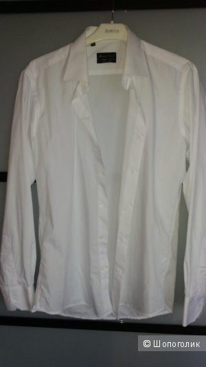 Mario Machado мужская рубашка приталенная белая размер M 39/40