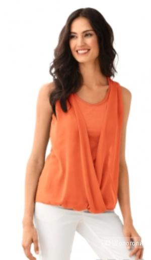 Блузка оранжевая 48разм