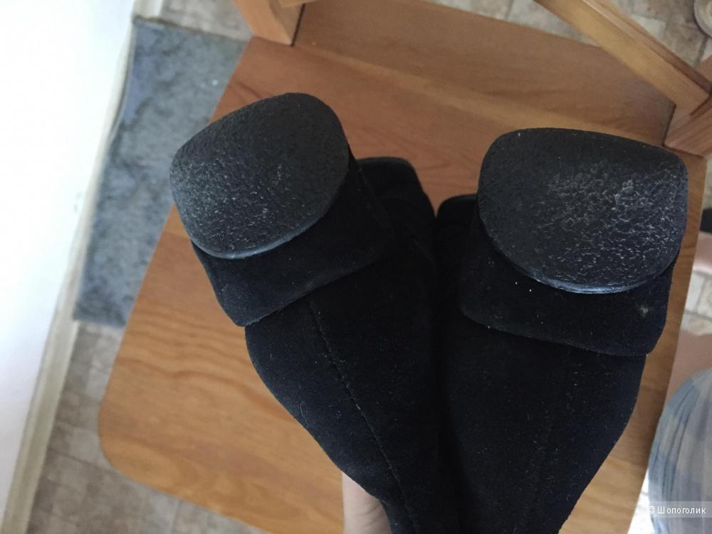 Сапоги зимние теплые замша на меху Paul Mitchel  размер 36.