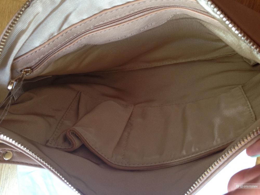 Бежевая сумочка на цепочке\клатч Patrizia Pepe