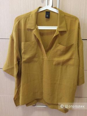 Горчичная блузка 48-50-52рр