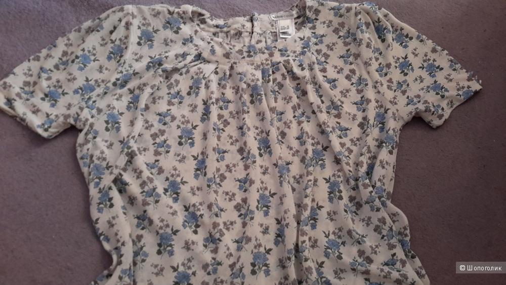 Нежная блузка Mango размер M оверсайз 46-50