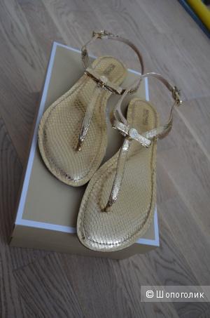 Новые золотые сандалии MICHAEL KORS оригинал, размер 8,5