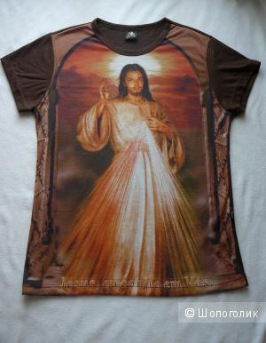 Футболка Cia da Paz (рисунок Иисус Христос) р42-44
