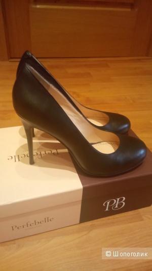Новые кожаные туфли, размер 38