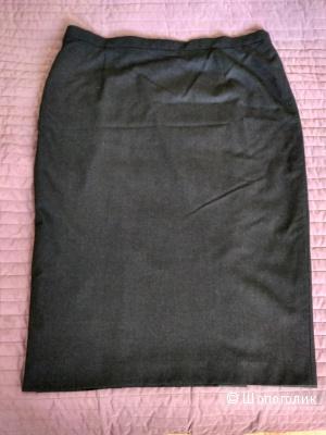 Юбка-карандаш, шерсть, D46