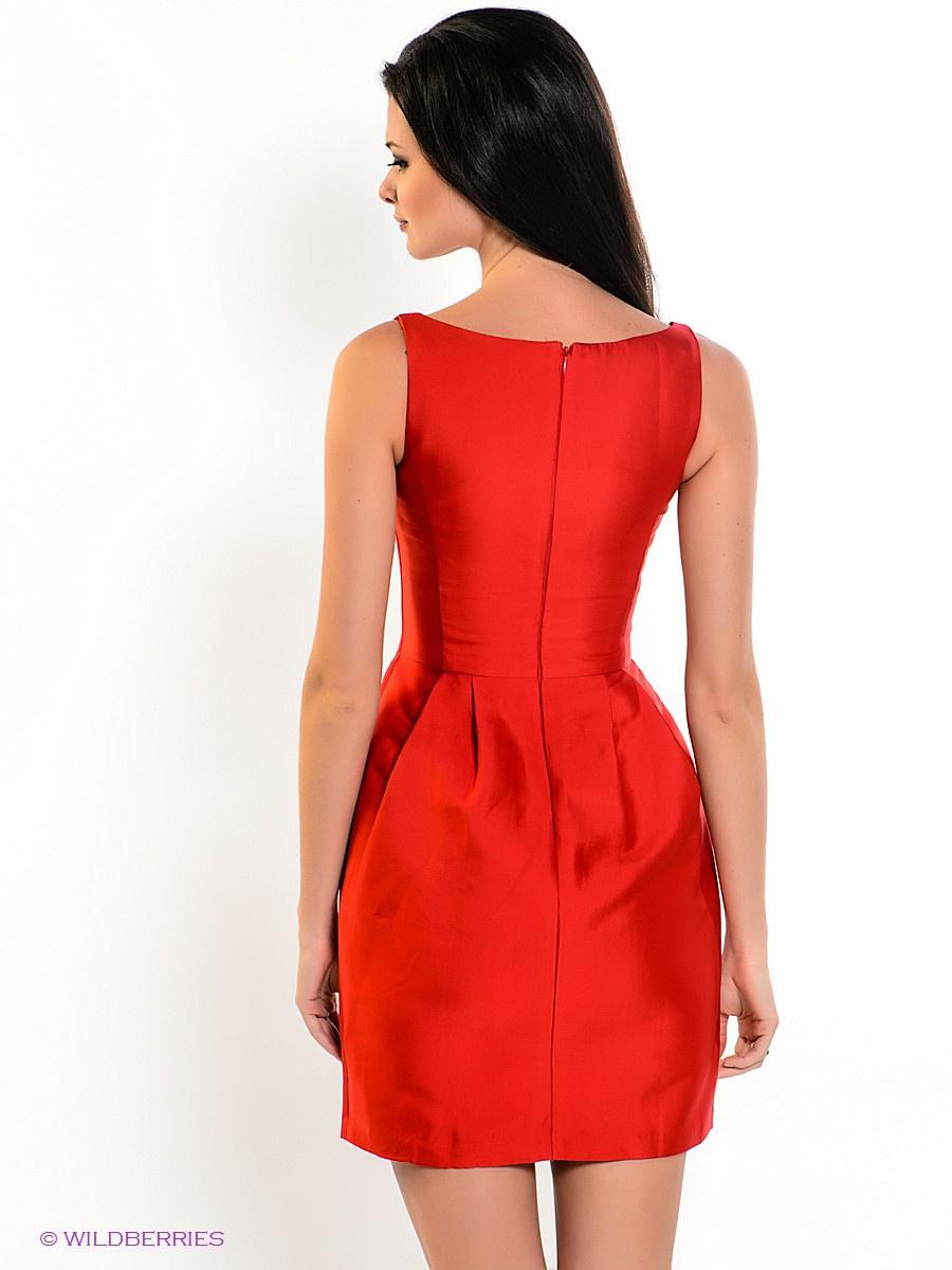 Платье Zarina красного цвета размер 48