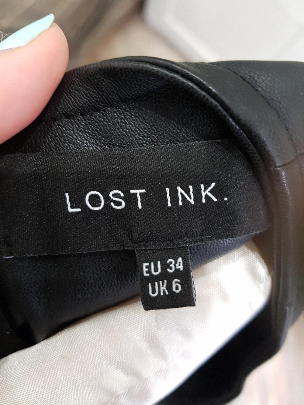 Платье кожзам Lost Ink размер 34 (UK6)