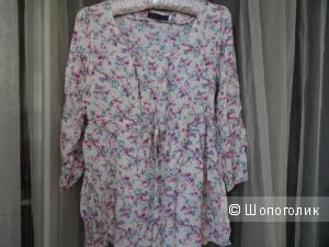 Блузка в деревенском стиле на кулиске, размер 44, б/у