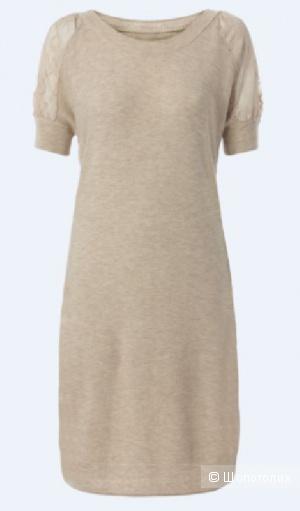 Нежное, тонкое, вязанное платье (туника) с кружевом Intimissimi 44 размер