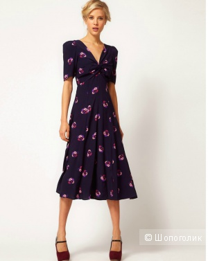 Вискозное летнее миди платье, vintage style,  Асос р.14UK (46-48)
